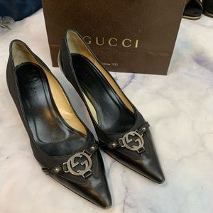 GUCCI GG  kitten heels as eu36